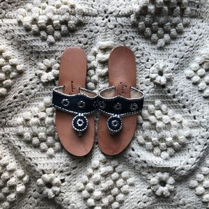Jack Rogers Jacks sandal navy blue silver